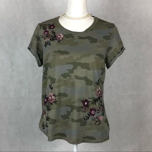 American Eagle Embroidered Camouflaged Tee